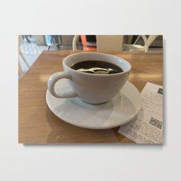 Coffee Time in Peru Metal Print