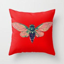 17 Year Cicada Throw Pillow