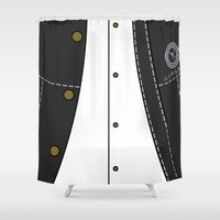persona Shower Curtains featuring Persona 4 Protagonist Uniform by Bunny Frost