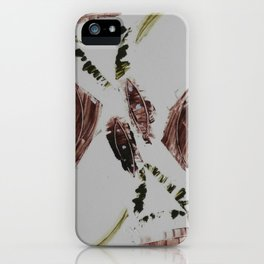 Grabado barquitos marrones iPhone Case