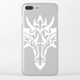 White Dragon Tribal Clear iPhone Case