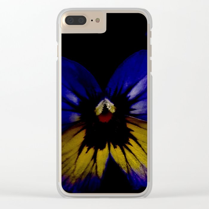 Dark Midsummer Pansies, Love Potion Clear iPhone Case