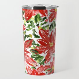 Pretty Poinsettias Travel Mug
