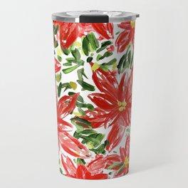 Pretty Poinsettias Travel Mug