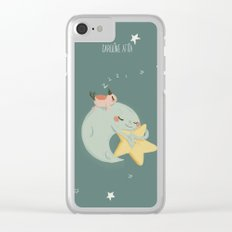 Moon Nap Clear iPhone Case