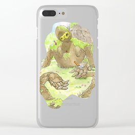 Castle Guardian Robot Clear iPhone Case