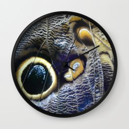 Textures of the Wing by Teresa Thompson Wall Clock