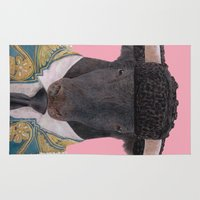 spanish Area & Throw Rugs featuring Spanish Bull by Rachel Waterman