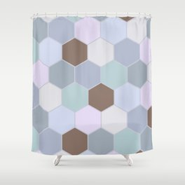 Violet pastel shades hive Shower Curtain