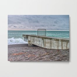 Pipe Outlet Napier Beach Metal Print
