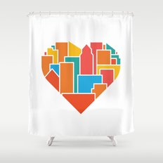 Livin' for the City Shower Curtain