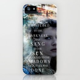 She Whispered iPhone Case
