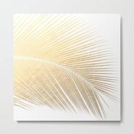 Palm leaf - gold Metal Print