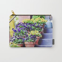 Flowers on Stoop in South End Carry-All Pouch