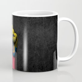 Ecuadorian Flag on a Raised Clenched Fist Coffee Mug