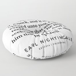 35  |  Earl Nightingale Quotes | 190829 Floor Pillow