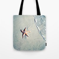 starfish Tote Bags featuring Starfish  by Bree Madden