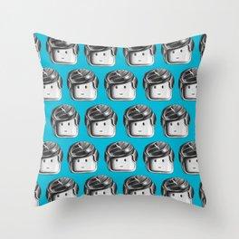 Minifigure Pattern – Blue Throw Pillow