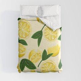 yellow lemons Comforters