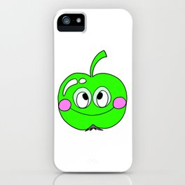 Hand drawn drawing funny green Apple iPhone Case