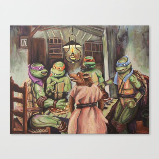 The Pizza Eaters Canvas Print