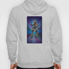 Sexy pump 3. On multicolored background (Predominance of violet) Hoody
