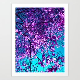 purple tree XXIX Art Print
