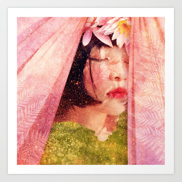 Summer So Long :: Fine Art Collage Art Print