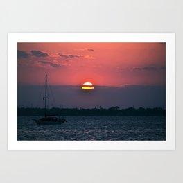 Eau Gallie Sunset Art Print