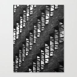 07 Black & White Windows Rows Canvas Print