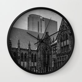 Two Sides To A City Wall Clock
