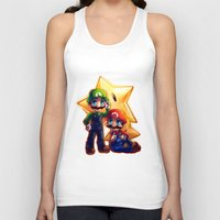 mario bros Tank Tops featuring Mario Bros. by StephanieIllustrations