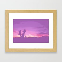 Lavender Joshua Sunset - Pop_Art Framed Art Print