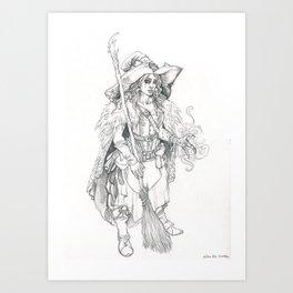 Moïra witch Art Print
