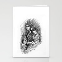 grantaire Stationery Cards featuring Grantaire, III by Flávia Marques