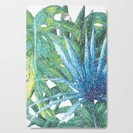 Philodendron & Flora Cutting Board