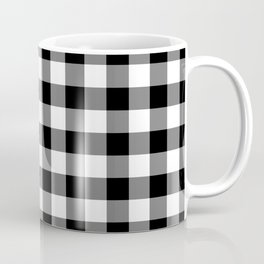 Gingham (Black/White) Coffee Mug