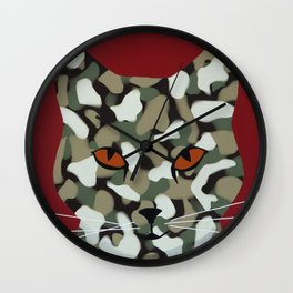 Hell Cat Wall Clock