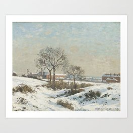 Camille Pissarro - Snowy Landscape at South Norwood Art Print