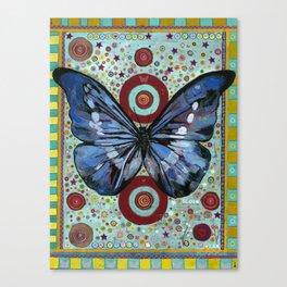 """Big Blue Butterfly"" copyright Ray Stephenson 2013 Canvas Print"
