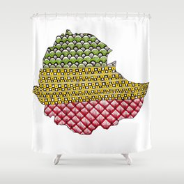 Patterns on Ethiopia Shower Curtain