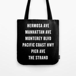South Bay Hermosa Beach Streets - Black Tote Bag
