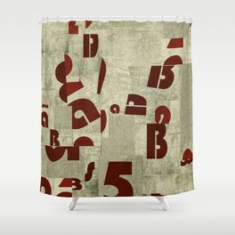Letters collage Shower Curtain