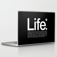typography Laptop & iPad Skins featuring Life.* Available for a limited time only. by WORDS BRAND™
