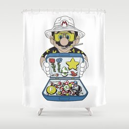 Mario - Fear And Loathing In Las Vegas Shower Curtain