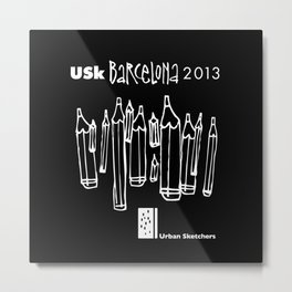 Urban Sketchers USk BCN 2013 Metal Print