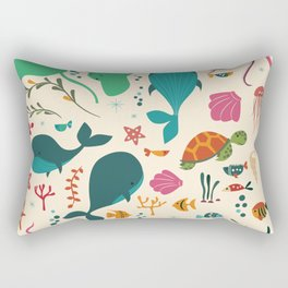 Sea creatures 003 Rectangular Pillow