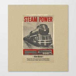 Train vintage Poster Canvas Print