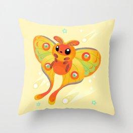 Comet Moth Throw Pillow
