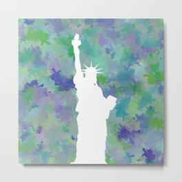 Statue of Liberty Silhouette Metal Print